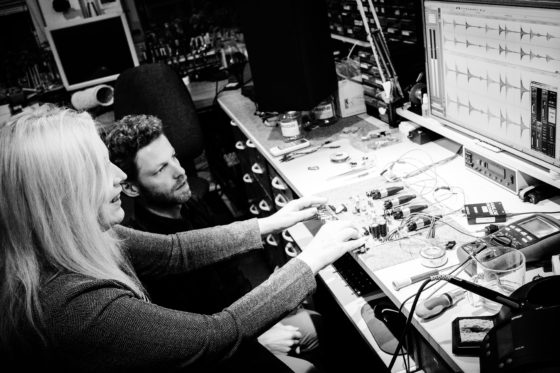 Sylvia Massy cookin' somethin' in the Looptrotter lab