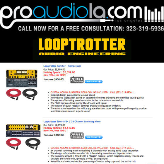 Looptrotter partners with Pro Audio LA